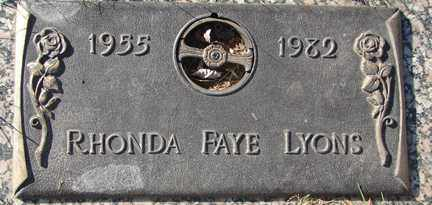 LYONS, RHONDA FAYE - Minnehaha County, South Dakota | RHONDA FAYE LYONS - South Dakota Gravestone Photos