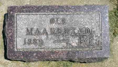 MAAKESTAD, OLE - Minnehaha County, South Dakota | OLE MAAKESTAD - South Dakota Gravestone Photos