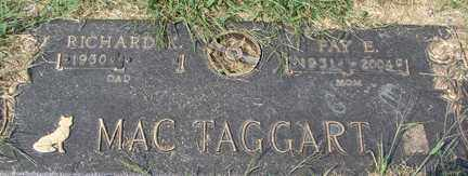 MAC TAGGART, FAY E. - Minnehaha County, South Dakota | FAY E. MAC TAGGART - South Dakota Gravestone Photos