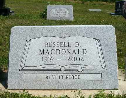 MACDONALD, RUSSELL D. - Minnehaha County, South Dakota | RUSSELL D. MACDONALD - South Dakota Gravestone Photos