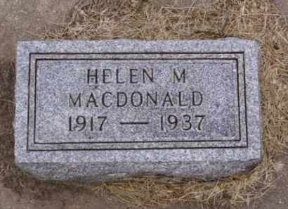 MACDONALD, HELEN M. - Minnehaha County, South Dakota | HELEN M. MACDONALD - South Dakota Gravestone Photos