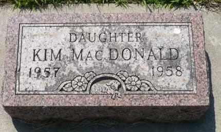 MACDONALD, KIM - Minnehaha County, South Dakota | KIM MACDONALD - South Dakota Gravestone Photos