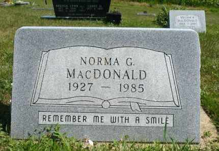 MACDONALD, NORMA G. - Minnehaha County, South Dakota | NORMA G. MACDONALD - South Dakota Gravestone Photos