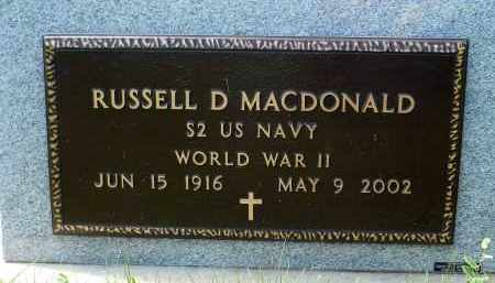 MACDONALD, RUSSELL D. (WWII) - Minnehaha County, South Dakota | RUSSELL D. (WWII) MACDONALD - South Dakota Gravestone Photos