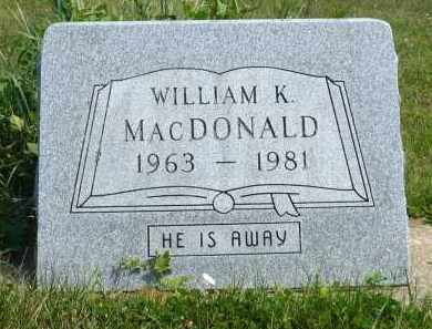 MACDONALD, WILLIAM K. - Minnehaha County, South Dakota | WILLIAM K. MACDONALD - South Dakota Gravestone Photos