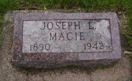 MACIE, JOSEPH L. - Minnehaha County, South Dakota | JOSEPH L. MACIE - South Dakota Gravestone Photos