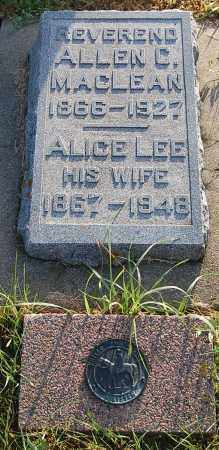 PREST MACLEAN, ALICE LEE - Minnehaha County, South Dakota | ALICE LEE PREST MACLEAN - South Dakota Gravestone Photos