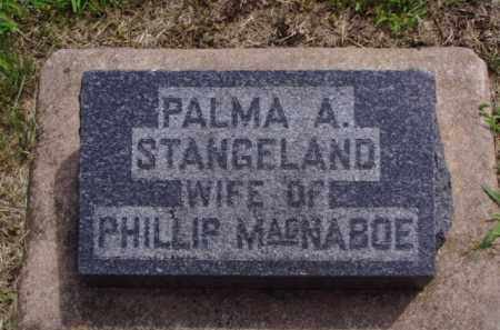 STANGELAND MACNABOE, PALMA A. - Minnehaha County, South Dakota | PALMA A. STANGELAND MACNABOE - South Dakota Gravestone Photos
