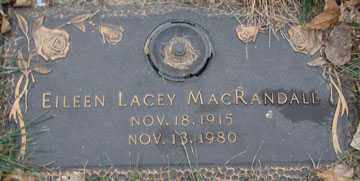 MACRANDALL, EILEEN LACEY - Minnehaha County, South Dakota | EILEEN LACEY MACRANDALL - South Dakota Gravestone Photos
