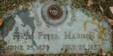MADISON, HANS PETER - Minnehaha County, South Dakota | HANS PETER MADISON - South Dakota Gravestone Photos
