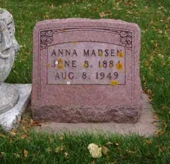 MADSEN, ANNA - Minnehaha County, South Dakota | ANNA MADSEN - South Dakota Gravestone Photos