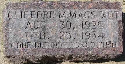 MAGSTADT, CLIFFORD M. - Minnehaha County, South Dakota | CLIFFORD M. MAGSTADT - South Dakota Gravestone Photos