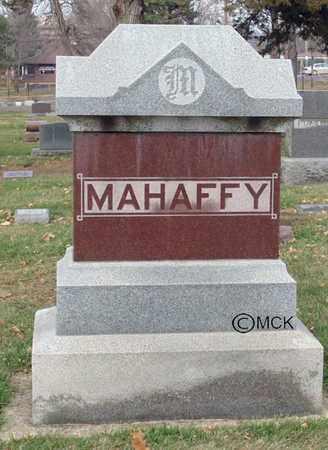 MAHAFFY, HEADSTONE - Minnehaha County, South Dakota | HEADSTONE MAHAFFY - South Dakota Gravestone Photos
