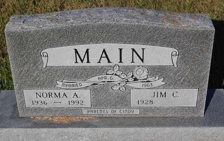 MAIN, NORMA A. - Minnehaha County, South Dakota | NORMA A. MAIN - South Dakota Gravestone Photos