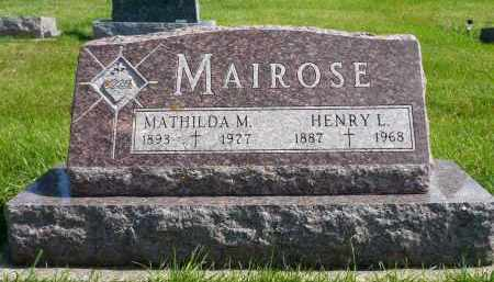 MAIROSE, HENRY L. - Minnehaha County, South Dakota | HENRY L. MAIROSE - South Dakota Gravestone Photos