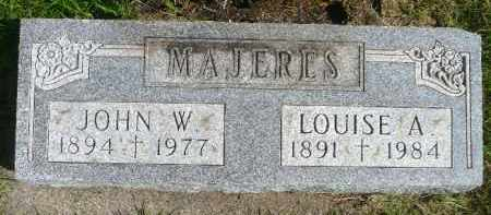 MAJERES, LOUISE A. - Minnehaha County, South Dakota | LOUISE A. MAJERES - South Dakota Gravestone Photos