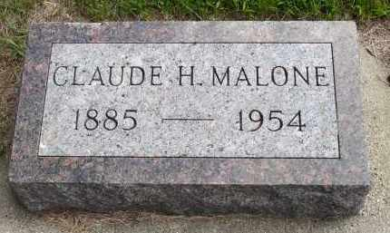 MALONE, CLAUDE H. - Minnehaha County, South Dakota | CLAUDE H. MALONE - South Dakota Gravestone Photos