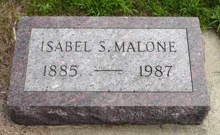 MALONE, ISABEL S. - Minnehaha County, South Dakota | ISABEL S. MALONE - South Dakota Gravestone Photos