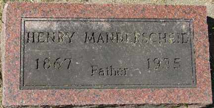 MANDERSCHEID, HENRY - Minnehaha County, South Dakota | HENRY MANDERSCHEID - South Dakota Gravestone Photos