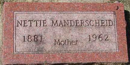 MANDERSCHEID, NETTIE - Minnehaha County, South Dakota   NETTIE MANDERSCHEID - South Dakota Gravestone Photos