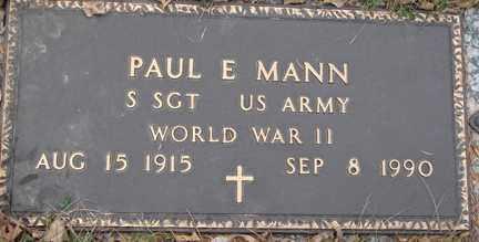 MANN, PAUL E. (WWII) - Minnehaha County, South Dakota   PAUL E. (WWII) MANN - South Dakota Gravestone Photos