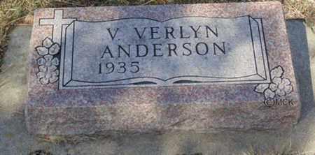 ANDERSON, V. VERLYN - Minnehaha County, South Dakota | V. VERLYN ANDERSON - South Dakota Gravestone Photos