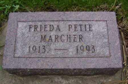 PETIE MARCHER, FRIEDA - Minnehaha County, South Dakota | FRIEDA PETIE MARCHER - South Dakota Gravestone Photos