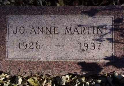 MARTINI, JO ANNE - Minnehaha County, South Dakota | JO ANNE MARTINI - South Dakota Gravestone Photos