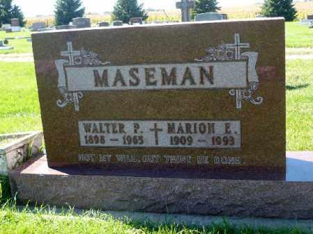 MASEMAN, WALTER P. - Minnehaha County, South Dakota | WALTER P. MASEMAN - South Dakota Gravestone Photos