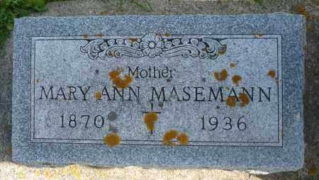 MASEMANN, MARY ANN - Minnehaha County, South Dakota | MARY ANN MASEMANN - South Dakota Gravestone Photos