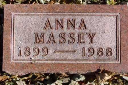 MASSEY, ANNA - Minnehaha County, South Dakota | ANNA MASSEY - South Dakota Gravestone Photos