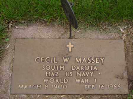 MASSEY, CECIL WILFRED - Minnehaha County, South Dakota | CECIL WILFRED MASSEY - South Dakota Gravestone Photos