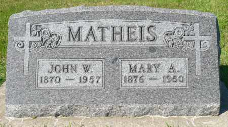 MATHEIS, MARY A. - Minnehaha County, South Dakota | MARY A. MATHEIS - South Dakota Gravestone Photos