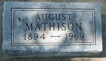MATHISON, AUGUST - Minnehaha County, South Dakota | AUGUST MATHISON - South Dakota Gravestone Photos