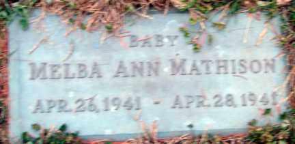 MATHISON, MELBA ANN - Minnehaha County, South Dakota | MELBA ANN MATHISON - South Dakota Gravestone Photos