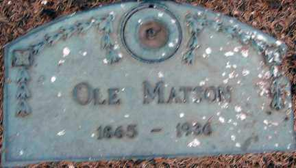 MATSON, OLE - Minnehaha County, South Dakota | OLE MATSON - South Dakota Gravestone Photos