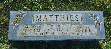 MATTHIES, MYRTLE G. - Minnehaha County, South Dakota | MYRTLE G. MATTHIES - South Dakota Gravestone Photos