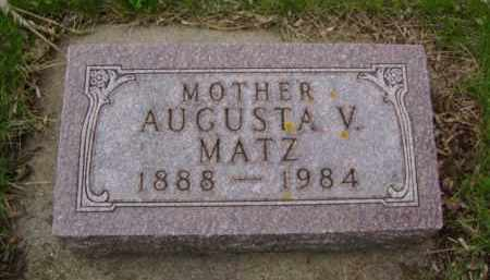 MATZ, AUGUSTA V. - Minnehaha County, South Dakota | AUGUSTA V. MATZ - South Dakota Gravestone Photos