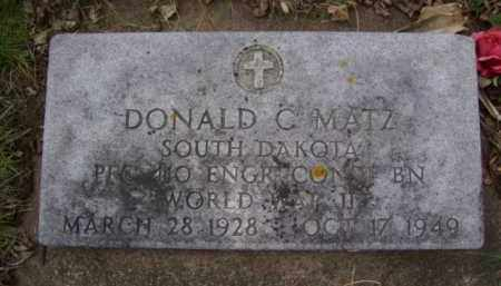 MATZ, DONALD C. - Minnehaha County, South Dakota | DONALD C. MATZ - South Dakota Gravestone Photos