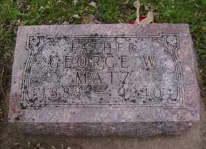 MATZ, GEORGE W. - Minnehaha County, South Dakota | GEORGE W. MATZ - South Dakota Gravestone Photos