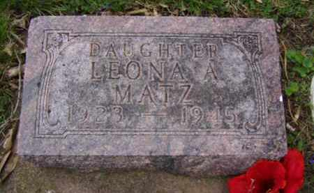 MATZ, LEONA A. - Minnehaha County, South Dakota   LEONA A. MATZ - South Dakota Gravestone Photos