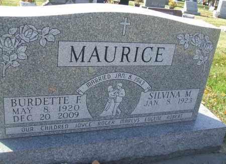 MAURICE, BURDETTE F. - Minnehaha County, South Dakota   BURDETTE F. MAURICE - South Dakota Gravestone Photos