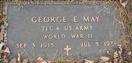 MAY, GEORGE E. (WWII) - Minnehaha County, South Dakota | GEORGE E. (WWII) MAY - South Dakota Gravestone Photos