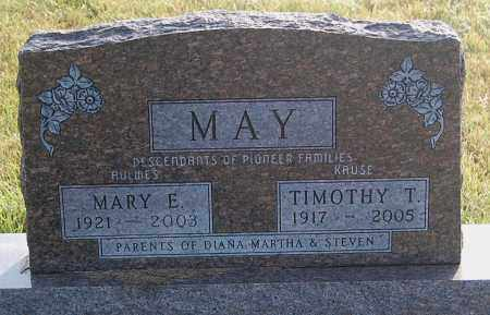 MAY, MARY E. - Minnehaha County, South Dakota | MARY E. MAY - South Dakota Gravestone Photos