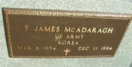 MCADARAGH, F. JAMES (KOREA) - Minnehaha County, South Dakota   F. JAMES (KOREA) MCADARAGH - South Dakota Gravestone Photos