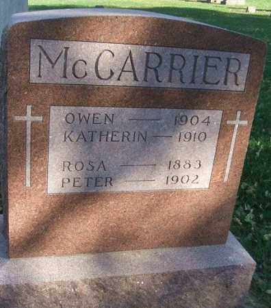 MCCARRIER, ROSA - Minnehaha County, South Dakota   ROSA MCCARRIER - South Dakota Gravestone Photos