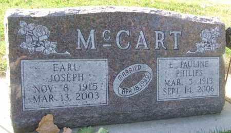 MCCART, EARL JOSEPH - Minnehaha County, South Dakota   EARL JOSEPH MCCART - South Dakota Gravestone Photos