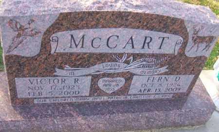 MCCART, VICTOR - Minnehaha County, South Dakota   VICTOR MCCART - South Dakota Gravestone Photos