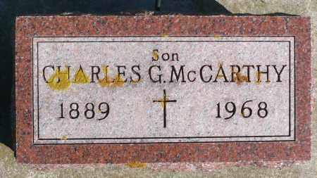 MCCARTHY, CHARLES G. - Minnehaha County, South Dakota | CHARLES G. MCCARTHY - South Dakota Gravestone Photos