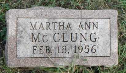 MCCLUNG, MARTHA ANN - Minnehaha County, South Dakota | MARTHA ANN MCCLUNG - South Dakota Gravestone Photos